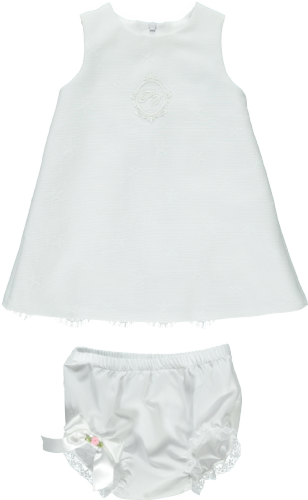 Piccola Speranza Girls White PS Dress